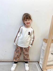 chaud vente 2pcs layette boutique filles à manches longues HABILLEMENT enfants pantalon