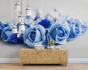 Romantic Floral 3d Wallpaper HD Flower Beautiful Simple Nordic Modern Background Wall Living Room Bedroom Wallcovering HD Wallpaper
