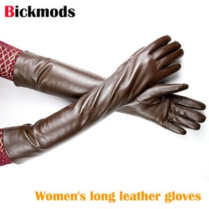 Long Leather Gloves Women's Sheepskin A Variety Of Colors Candy Bar Lining Warm Arm Shields Free Shipping