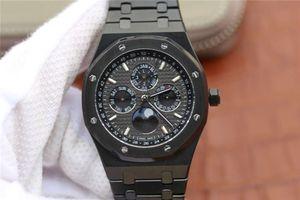 JF 26579 Montre de Luxe 41mm 5134 Movimiento Caja de acero inoxidable 40 horas de reloj automático de reserva de energía