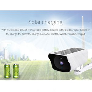 태양 와이파이 카메라 2MP 1080P 실외 방수 충전 배터리 무선 홈 보안 IP 네트워크 CCTV 카메라 PIR 모션 감시