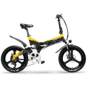 7-Gang 20 '' Folding Mountain Bike Ebike Starke Energie 10.4Ah / 12.8Ah / 14.5Ah Lithium-Batterie Integrierte Rad 5 Ebene Pedal Assist