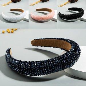 Kadınlar Bling Kalın Bantlar Bedazzled yastıklı Rhinestone Hairband Takı Aksesuar DHC878 için geniş Kristal Headband Nakliye