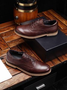 2019 New Brown Men &#039 ;S Business Casual Shoes ,Fashion Casual Shoes ,With Original Packaging Shoe Box Delivery Male Code :38 -44