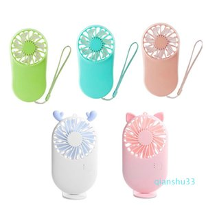 Wholesale-2020 New Usb Mini Fans Portable Air Cooler Electric Handheld Rechargable Cute Small Cooling Fans Student Home Travel Outdoor