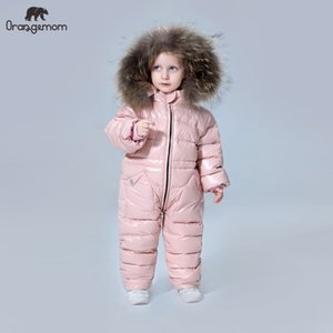 degree Russian winter children's clothing down jacket boys outerwear coats , thicken Waterproof snowsuits Girls Clothing CX200808