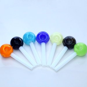 """4.7""""inch 1.1 Simulation Lollipop Pyrex Pipe Glass Hand Pipe Rig Pipes Glass Spoon Pipe"""