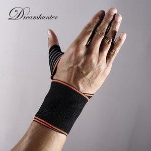 PC 1 correa ajustable de presión ayuda de la muñeca de la muñeca Brace aptitud vendaje guantes de la gimnasia cinta absorbente protector de munhequeira