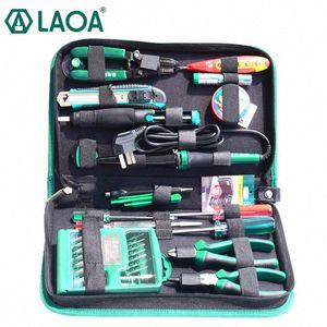 LAOA 52pcs ferramentas de reparo eletrônicos definido dentro de 32 em 1 chaves de fenda precisas Solda Elétrica Ferro cortador de fio Faca SDFC #