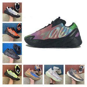 Latest kanye west 700 running shoes Vanta 700 V3 Alvah Azael Reflective Orange tie dye 380 Blue Oat Mist Alien mens sports sneakers 36-46