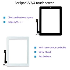 For touch screen quality for iPad 2 3 4 digitizer front screen replacement glass Assembly with home button