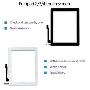 لمسة نوعية الشاشة لباد 2/3/4 التحويل الرقمي زجاج الشاشة أمام استبدال الجمعية مع زر المنزل