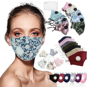 Vana PM2.5 Filtre Yuvası Karikatür Kapak Yıkanabilir Reusble Koruyucu Yetişkin / Çocuk Yüz Maskeleri FY9140 ile Moda Tasarımcısı Pamuk Yüz Maskeleri