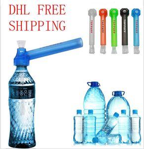 Economici Viaggi Essentials Glass Bong Viaggiare tubi Shisha Acqua Top Puff Toppuff Pipe acqua Acrilico bong trasporto libero del DHL