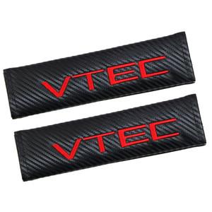 caso del cinturón de seguridad Car Styling almohadillas para Seat Honda VTEC de fibra de carbono cubierta de la correa de hombro Pad Car Styling 2pcs / lot