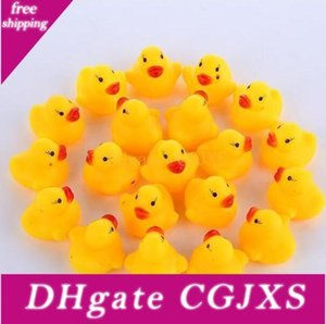 100pcs  Lot Wholesale Mini Rubber Bath Duck Pvc Duck With Sound Floating Duck Fast Delivery Swiming Beach By000