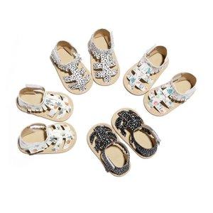 2020 Bebê novo Estilo Sapatos PU Couro Verão Estilo Primeiro Walkers Roman Gladiator Botas criança Infant Shoes Leopard Tassel Moccas