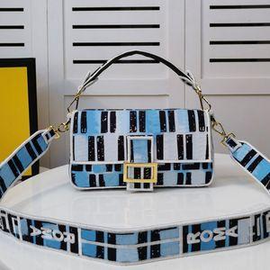 Baguette Bag Borse a tracolla Fashion Bag Classic Matrimoniale F tessuto Wilful catena cinghia della spalla degli Ultimi tela di canapa a mosaico a colori di alta qualità borsa