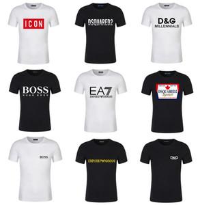 20SS été marque noir blanc Dsquared2 T-shirts hommes concepteur EA7 t manches chemises Dolce & Gabbana chemises UNISEX T-shirts de style 18 Böss