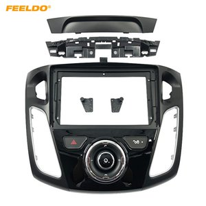 "FEELDO Car Stereo 9"" Big Screen Fascia Frame Adapter For Ford Focus 12-17 2Din Dash Audio Fitting Panel Frame Kit #6620"