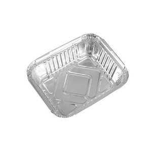 230ml rectangle disposable silver aluminum foil food container lunch box for toast Mashed potatoes