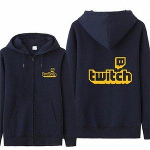 Automne pour Twitch Manche Sweat Hoodies Hommes Mode Manteau Pull en molleton Pull unisexe homme pour Twitch Sweat fyA5 #