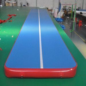 inflatable gym mat many size physical exercise Air Tumble Track yoga mat Gymnastics training use for Olympic Games and Taekwondo or yo XrQE#