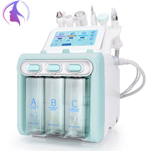 NEW 6 in1 Hydra Water Facial Cleaner RF Ultrasonic Skin Care Water Peeling Deep Cleansing Lifting Blackhead Removal Hydra Facial Machine