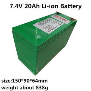 GTK 7.4V 20Ah bateria de iões de lítio com BMS para caixa de alto-falante GPS portáteis conduziu a lâmpada + carregador 3A