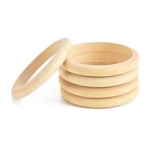 Rendendo collana collana Massaggiagengive in legno naturale Faggio Legno Anello Dentaruolo 67 millimetri bambino neonati dentizione Anello rotondo di cura DIY del prodotto