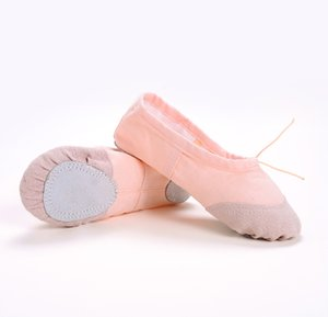 Danza di alta qualità scarpe per adulti bambini pratica scarpe da ballo inferiore molle Cat Claw Canvas Yoga Ballet Dance Shoes