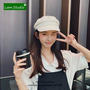 Boinas Para Mujer Casual Octagonal Beret Flat Top Cotton and Linen Women Army Hat Chapeau Femme Casquette Homme Kapelusz Fashion