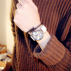 Korean-Style Simple Triangle Watch Simple Casual Atmosphere Hollow Harajuku Style Fashion Couples Watch