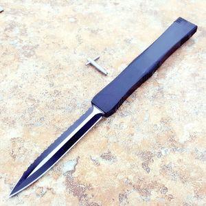 Erkek 1pcs freeshipping için çift ön kenar testere bıçağı Av Katlama Pocket Survival Knife Noel hediye ile Mic Nemesis IV büyük kılıç