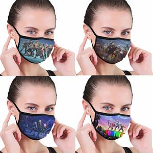 Fortnite 패턴 전폭 인쇄 먼지 씻어 검은 색 테두리, 편안한 마스크 및 재사용, 쉽게 마모 및 무료 배송