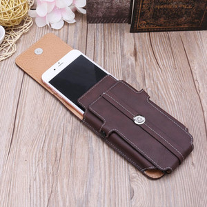 Cards Men Phone Bag Bum Waist Waist Designer Pockets Bags Leather THINKTHENDO Holder Case Belt Flip Tgvlx