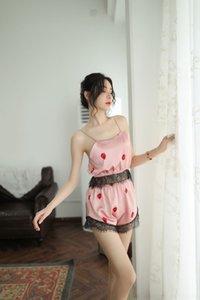 Z10GR Nouvelle sous-vêtements sexy cil mignon petit dos nu sexy Underwear set passion fraise fraise