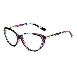 موضة جديدة عين القط نظارات القراءة للمرأة أزرق فاتح حجب نظارات نظارات طول النظر الشيخوخي