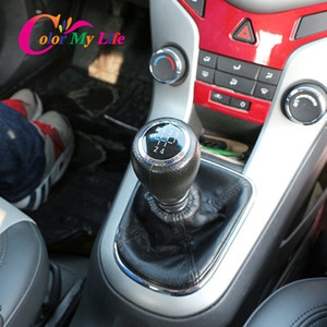 Gear Shift Knob Lever Stick for Chevrolet Chevy Cruze 2008 2009 2010 2011 2012 MT Handle Gaiter Boot Cover Case 5 6 Speed