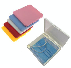 Portable Mask Storage Box Face Shield Moisture Dust Container Disposable Face mask box Mouth Cover Holder Mask Storage Case 11cm*11cm