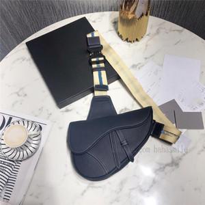 con caja TS sólido diseño de lujo bolsa de la silla de montar para mujer para hombre bolso oblicuo bolsa de mensajero de la mejor calidad cd Negro Bolsas de TI av6x #