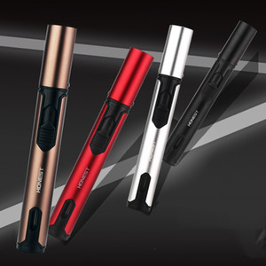 Honest Pen Torch Cigar Lighter Blue Straight Flame Jet Butane Gas Lighter Fuel Visible for BBQ Kitchen Gas stove