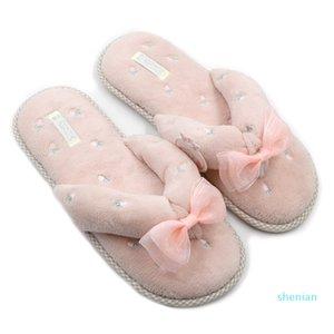 Heißer Verkauf-Millffy Hause Boden Slipper Schuhe super weiche Korallen Samt Vliesen Schuhe sapatos masculino Flip-Flops im japanischen Stil Pantoffeln