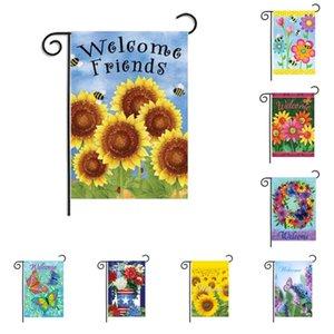 Добро пожаловать Сублимацию Blank сада Flag Тепло Tranfer Печать Личность Баннеры Весна Four Seasons висячего Flag DDA489