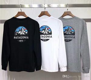 Otoño del resorte de manga larga camiseta de Montaña Patagonia Hombres Mujeres Ropa Tops Tee tapas ocasionales