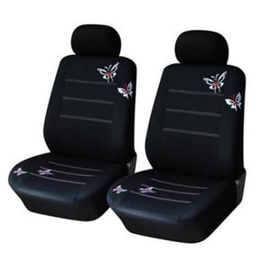 2PCS / 4PCS / 9PCS السيارات العالمي مقعد يغطي مجموعة الفراشة التطريز مقعد حامي الجديد