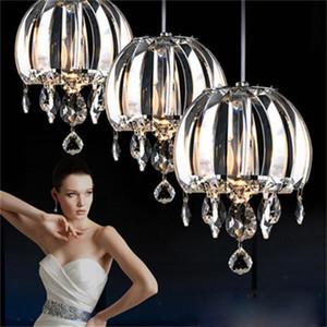 Nueva lámpara colgante de iluminación de la lámpara de cristal de la cocina isla luces de cristal de iluminación pendiente contemporánea llevó la iluminación de interior
