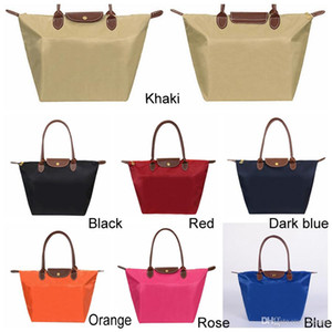 7 Colors Large Capacity Portable Shoulder Oxford Dumpling Handbag Shopping Tote Bags Top-handle Candy Color Hobos Storage Bag DH0547-2 T03