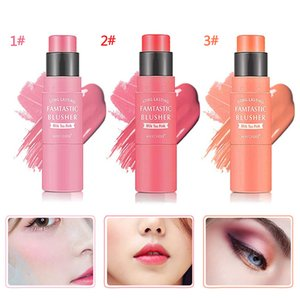 luxury- MAYCHEER 3 Colors Double End Cream Blush Stick Waterproof blush contour Blending Brush Long Lasting Peach Make up TSLM1