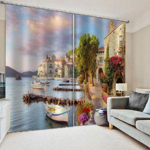Роскошная Blackout 3D Window Штора для гостиной Спальня Заказного размера Природы штора 3D окно Штора